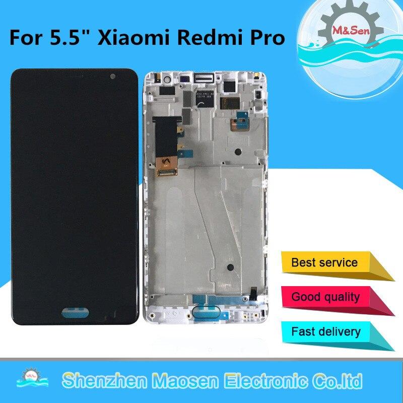 D'origine M & Sen OLED Pour 5.5 Xiaomi Redmi Pro écran lcd Display + Tactile Digitizer Cadre Pour Redmi Pro écran lcd écran tactile