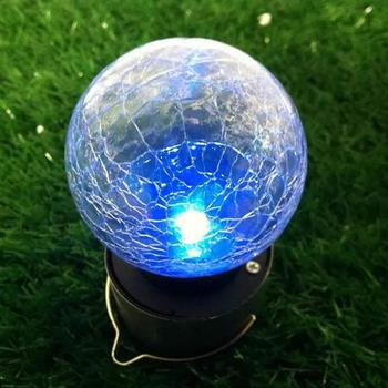 Outdoor Led Solar Hanging Lamp Colorful Led Cracks Ball Chandelier Outside Waterproof Decoration Lights for garden street tree image