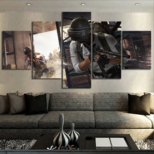 5 Piece Pubg Stimulate The Battlefield Video Game Poster Wall Pictures for Home Decor Artwork Canvas Wholesale