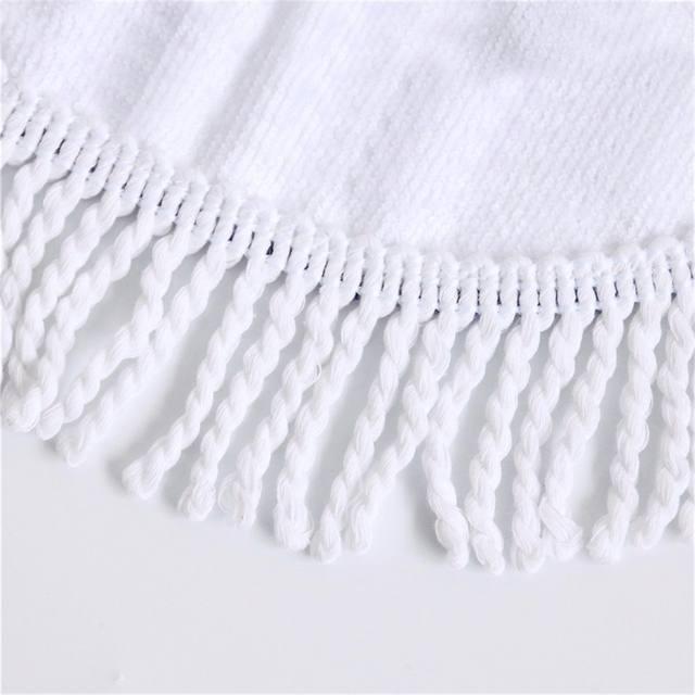 SKULL HIPPIE ROUND BEACH TOWEL (5 VARIAN)