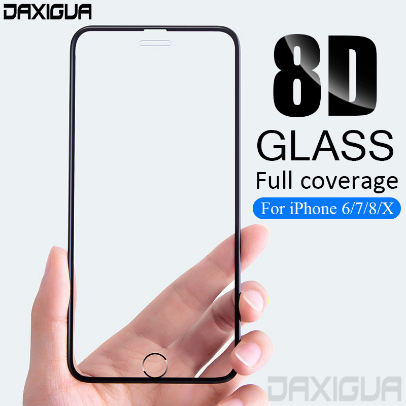 8D Full Cowl Protecting Glass For Iphone 6 7 eight 6S Plus X 10 Display screen Protector Glass On The Iphone X 5 5S Se Tempered Glass Movie