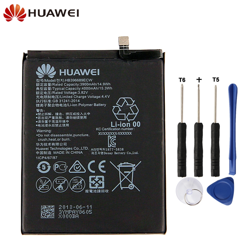 Original Replacement Phone Battery For Huawei Mate 9 Mate9 Pro Honor 8C Y9 2018 Version HB396689ECW Rechargeable Battery 4000mAhOriginal Replacement Phone Battery For Huawei Mate 9 Mate9 Pro Honor 8C Y9 2018 Version HB396689ECW Rechargeable Battery 4000mAh