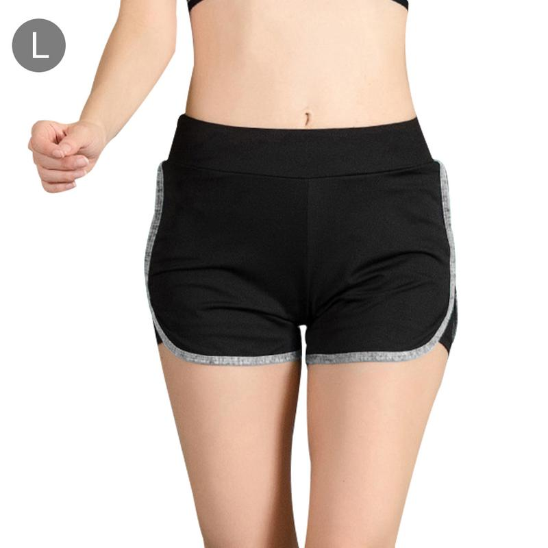 Sports Gym Shorts Women Yoga Shorts Push Hips Sexy Middle Waisted Gym Fitness Elastic Quick Dry Fake Two Pieces Running Shorts