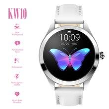 """KingWear KW10 nabız monitörü akıllı saat çağrı hatırlatma 1.04 """"dokunmatik ekran spor izci 15 gün bekleme süresi izle"""