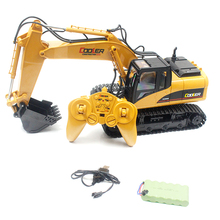 2019 New Hot HN 1350 2.4G 1:14 Simulated Engineering Van Wireless Electric RC Excavator Toy With 15 CH For Children