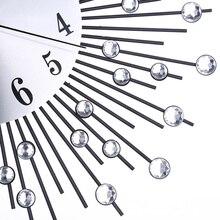 Decorative European Iron Silent 3D Modern Wall Clock