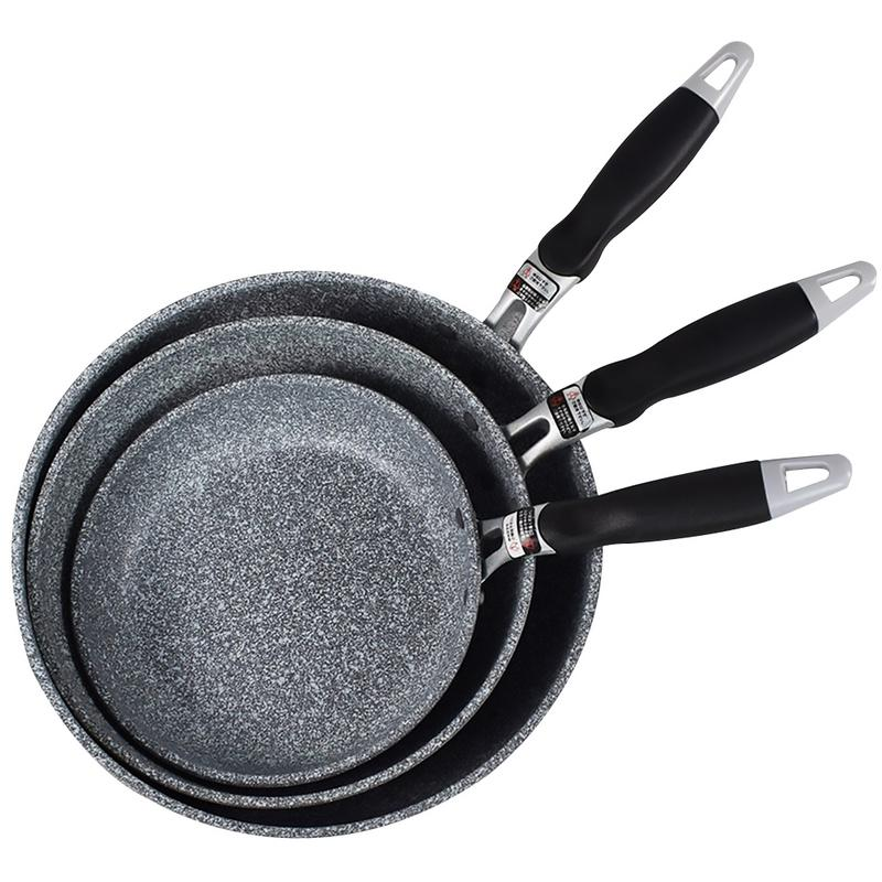 Pan-Set Frying-Pan Induction-Cooker Medical-Stone Forged Ceramic-Coating Easy-Clean Aluminum