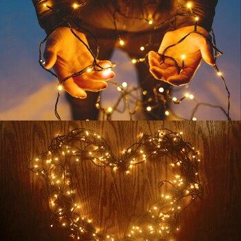 Batmal 50/100/200 LED Cadena Solar Luces De Hadas A Prueba De Agua Para Iluminación Al Aire Libre Jardín Boda Decoración De Fiesta De Navidad