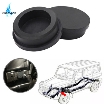 For Jeep Wrangler JL 2018 Frame Hole Plugs Cover Car Girder Rubber Plugs Small Keep Out Mud Tap Tube Hole Cover Plug WISENGEAR / image