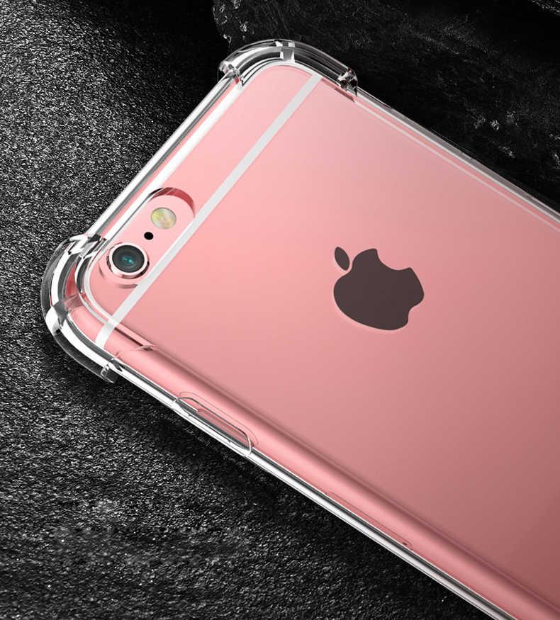 360 градусов подушка безопасности Dropproof мягкий чехол для Iphone Xs Max Xr 7 8 Plus 6 6s X 10 7 plus противоударный прозрачный силиконовый штамп чехол