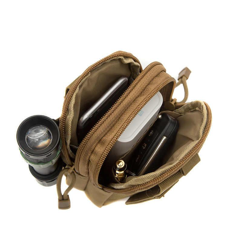 Açık Çok Fonksiyonlu Taktik Molle Bel paket çantası Oxford Bez Su Geçirmez koşu kemeri Spor Bel Çantası Çalışan Çantası