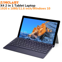 Teclast X4 2 in 1 Tablet Laptop 1920 x 1080 11.6 inch Windows 10 Quad Core 8GB RAM 128GB SSD Dual Camera HDMI with Keyboard
