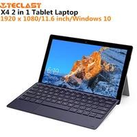 Teclast X4 2 in 1 Tablet Laptop 1920 x 1080 11.6 inch Windows 10 Quad Core 8GB RAM 128GB SSD Dual Camera HDMI with Keyboard