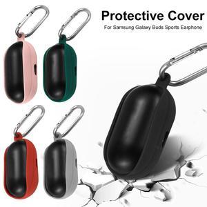 Image 5 - Tampa Da Caixa Do Silicone Para Galaxy Botões Caso do Fone de ouvido fone de Ouvido Bluetooth Esportes À Prova de Choque Capa Protetora Orifícios De Carregamento Novo