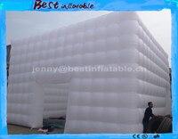 Бесплатная доставка по морю белый надувной куб надувные гигантские палатки для свадьбы/события, большой палатка вечерние партии