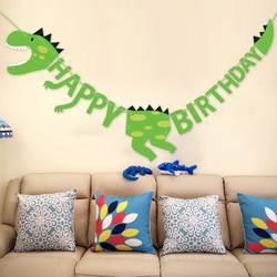 Динозавр вечерние баннеры нулевой день рождения День рождения украшения Вымпел Дети Товары для вечеринки, дня рожденья вечерние украшения