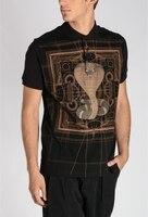 New Fashion Designer Python Cobra Print Tee Polo Shirt For Men Plus Size Short Sleeve Brand Clothing