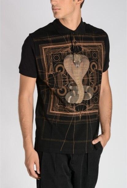 Nouveau créateur de mode Python Cobra imprimé t-shirt Polo pour hommes grande taille à manches courtes marque vêtements