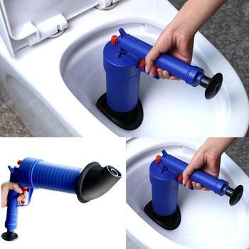 Air Power Blaster ปืนแรงดันสูงที่มีประสิทธิภาพสูง sink Plunger เปิดท่อระบายน้ำสำหรับอาบน้ำห้องน้ำห้องน้ำ