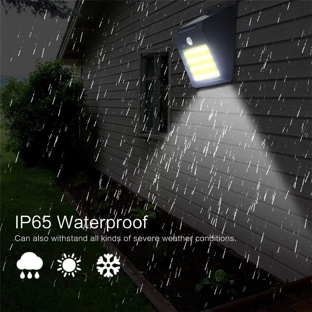 Solar Lamp PIR Motion Sensor LED Wall Light Energy Saving Waterproof Outdoor Garden Street Yard Path Night Light