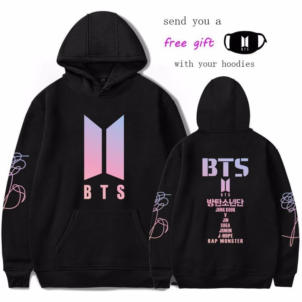 Kpop BTS LOVE self sudaderas con capucha para mujer k-pop Fans sudadera nuevo álbum DNA Sudadera con capucha Otoño Invierno ropa