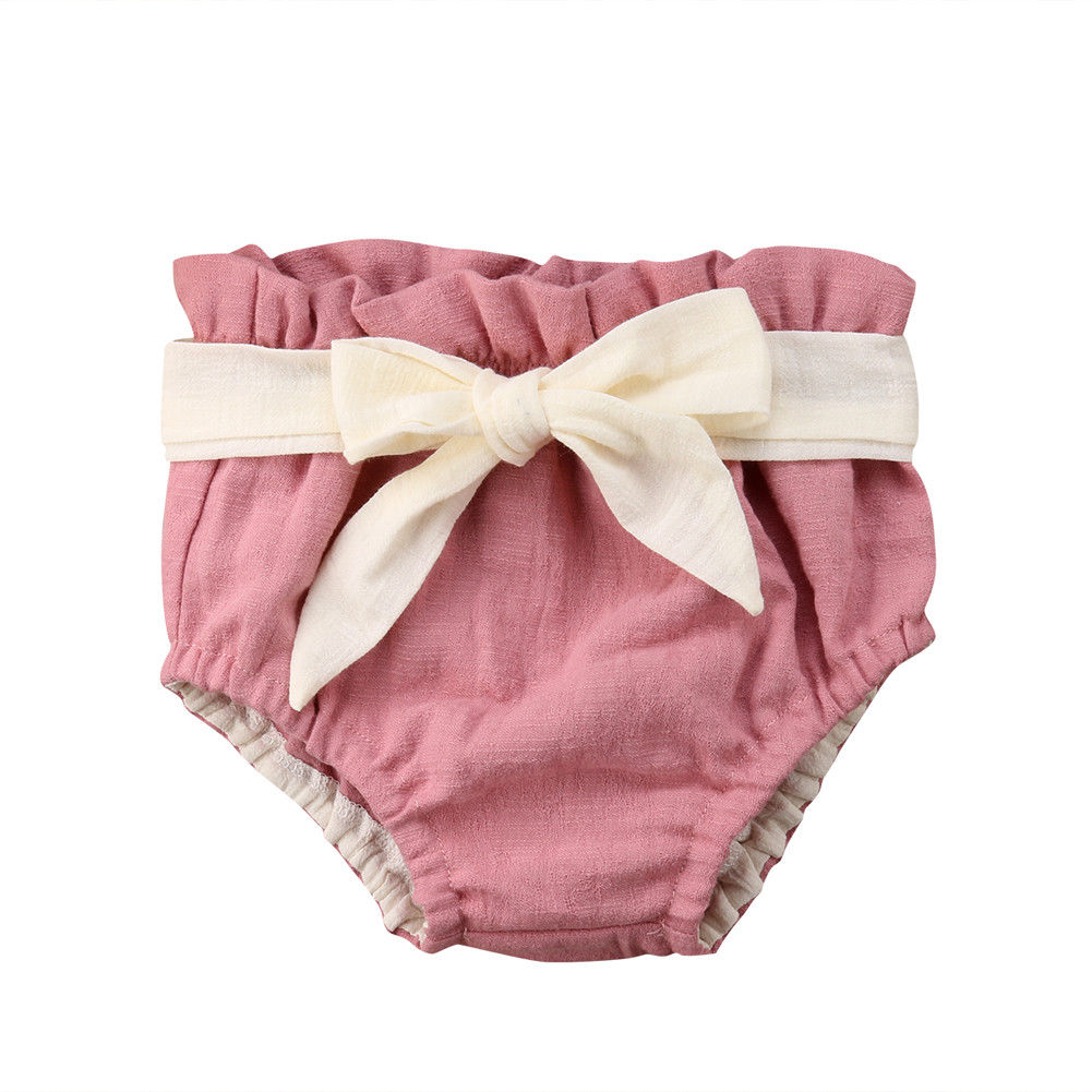 Newborn Infant Baby Girls Boys Soft   Shorts   PP Pants Bowknot Bloomers Nappy Diaper Covers Clothes