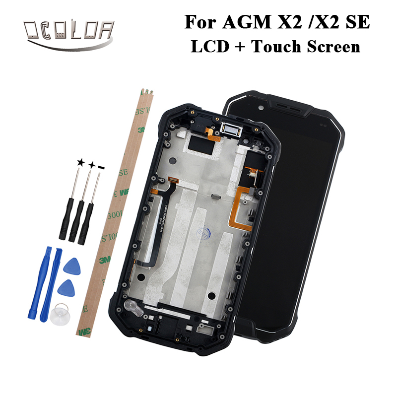 ocolor For AGM X2 X2 SE LCD Display and Touch Screen With Frame Tools And Adhesive