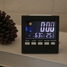 ЖК-цифровой гигрометр и термометр измеритель температуры и влажности комнатные часы для прикроватного столика таймер часы
