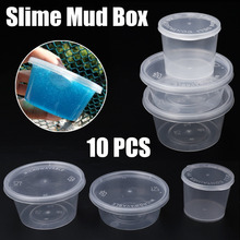 10pcs Slime Mud Clay Storage Box Candy Gift Toy Container Boxes 25/40/50/80ml Organizer Tool