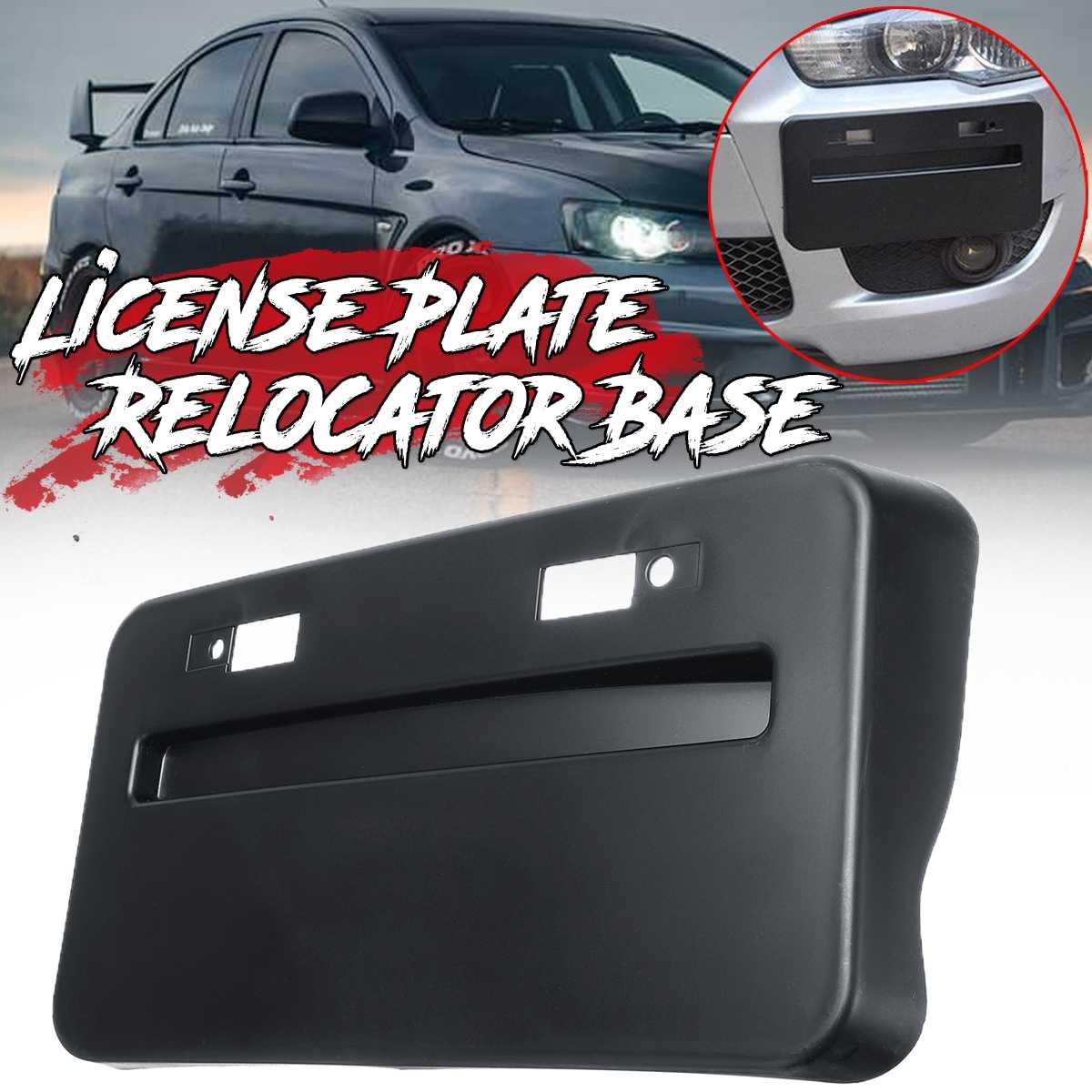 1x รถกันชนหน้าฐานใบอนุญาตกรอบ Relocator สำหรับ Mitsubishi Lancer GTS EVO X 2008-2018 ใบอนุญาตแผ่นวงเล็บ