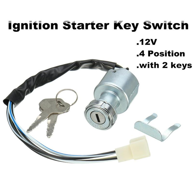 Car Ignition Switch 12V 24V Car ATV Truck Modified Igniter Switch Automotive And Motorcycle Accessories