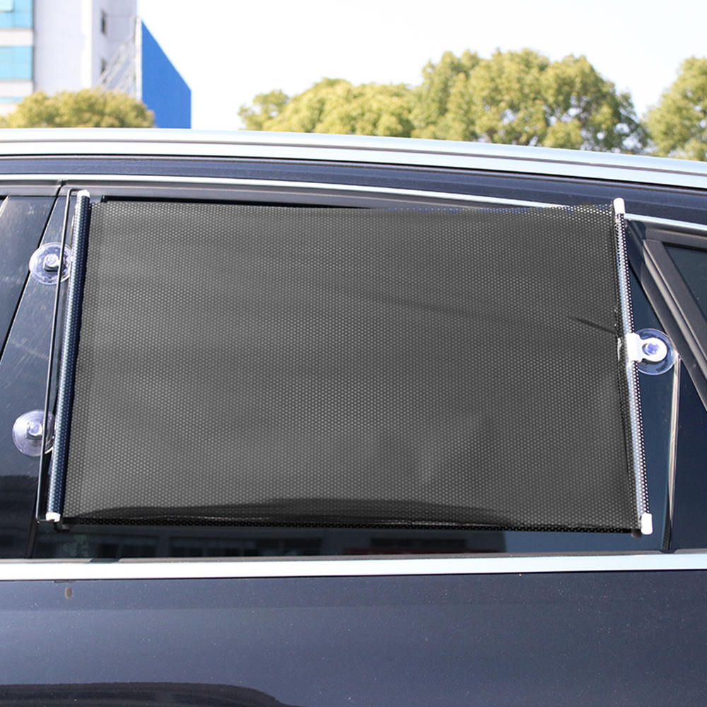 VORCOOL Car Window Shade Roller Retractable Car Side Window Block Sun Shade Cling Car Windows Sunshade 58x125cm Silver
