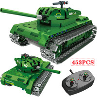 RC WW2 War Military Technic Control Uav Road Battle Tank Vehicle Building Blcoks Compatible Legoed Weapons Bricks Toys for Kids