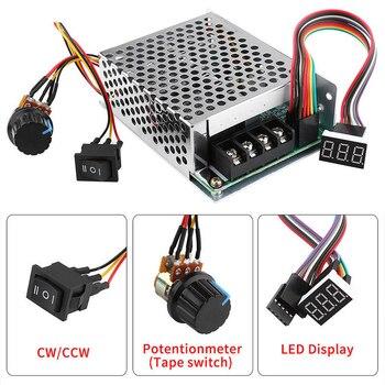 Controlador de velocidad del Motor controlador de velocidad DC 10-55/12/24/36 V 60A PWM velocidad del Motor controlador CW CCW Reversible interruptor