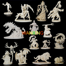 цены 1/72 Scale Models Dragons And Dungeons DND Background Board Role-playing Games Resin Model Descent Thorough Jedi Free Shipping