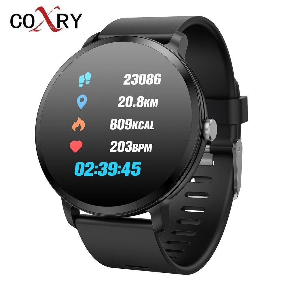 COXRY Sport Uhren Herren Smart Uhr Männer Wasserdichte IP67 Gehärtetem Glas Fitness Tracker Heart Rate Monitor Schrittzähler Smartwatch
