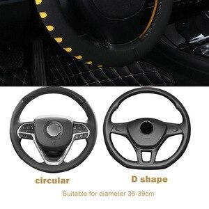 Image 3 - FORAUTO чехол рулевого колеса автомобиля Универсальный подходит для большинства автомобилей 38 см Диаметр EVA штамповки авто Стайлинг, аксессуары для интерьера