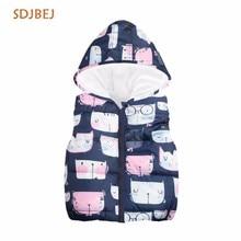 hot deal buy 2018 winter sweet children vest girls jackets cotton warm kids vest for girl waistcoat children outerwear coats