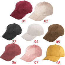 Outdoor Riding Sports And Leisure Cap  Suede Solid Color Baseball Adjustable Men Women Fashion Hat Accessories