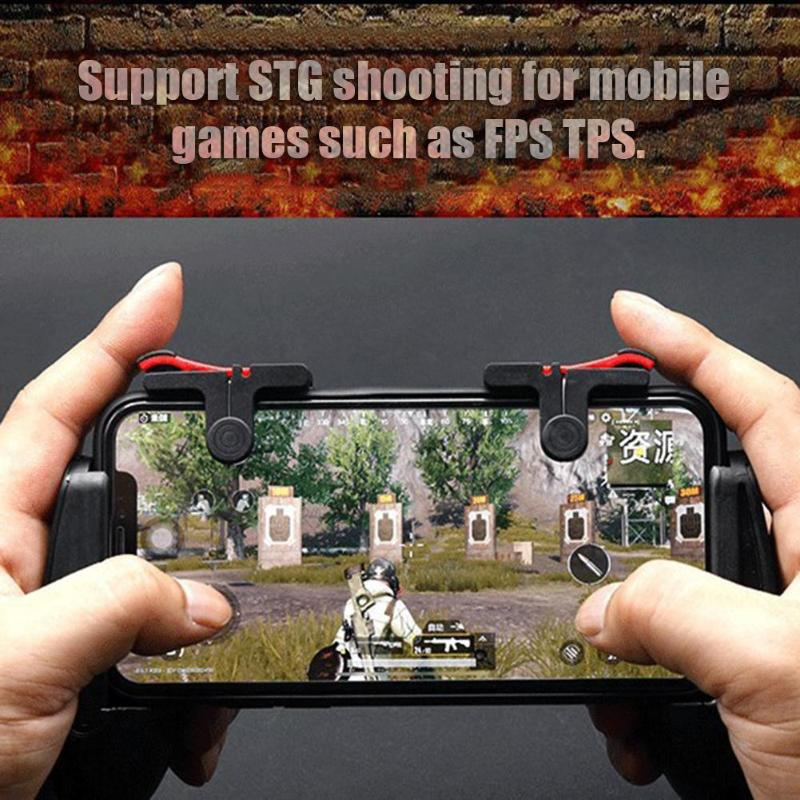 ALLOYSEED D9 Mobile Game Gamepad Trigger Gaming Joysticks Fire L1R1 Button Controller For PUBG