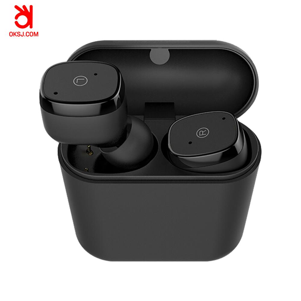 OKSJ mini bluetooths earphone earbuds wireless bluetooths tws in ear earbuds with charging case V5.0 Bluetooth earphones headset tws 5 0 bluetooth earphone touch control stereo music in ear type ipx6 waterproof wireless earbuds with charging box yz209