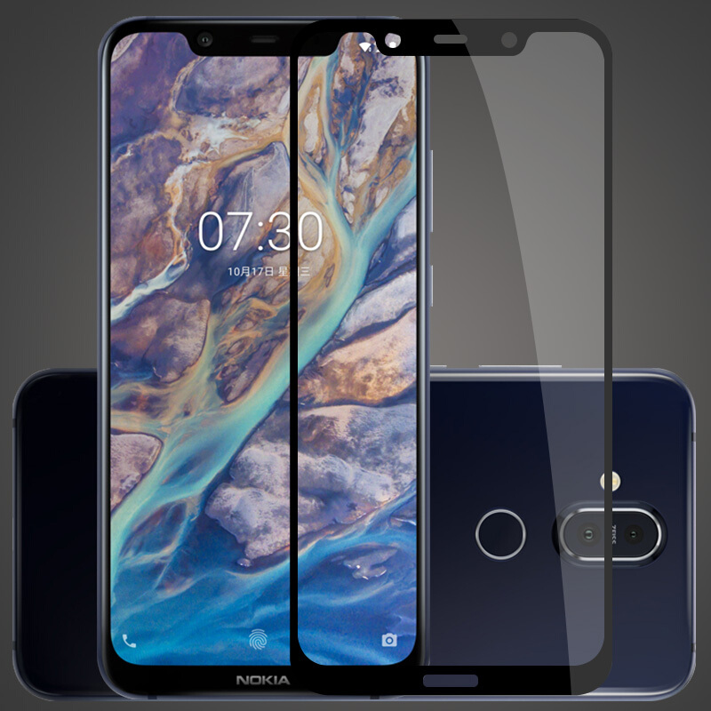 Protective Front Film Glass Full Cover Tempered Glass For Nokia X3 X5 X7 6 2018 5 3 7 8 9H Screen Protector For Nokia 7 plus