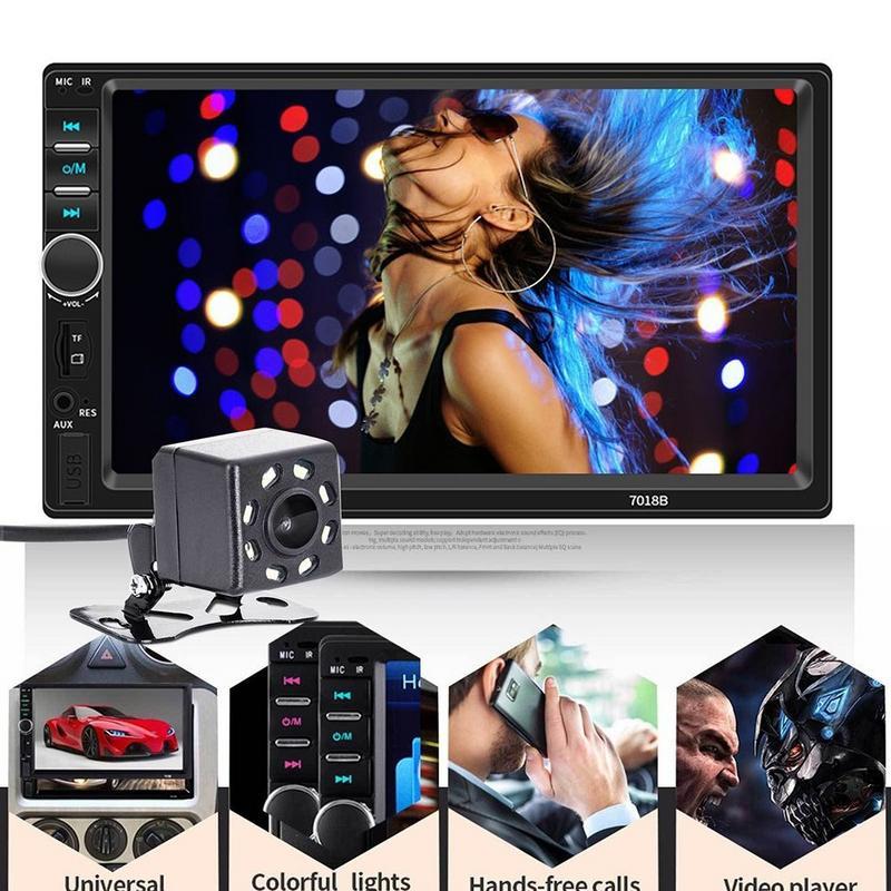 7 pouces voiture Bluetooth stéréo Radio voiture Double lingot MP5 lecteur de carte pour la caméra 7