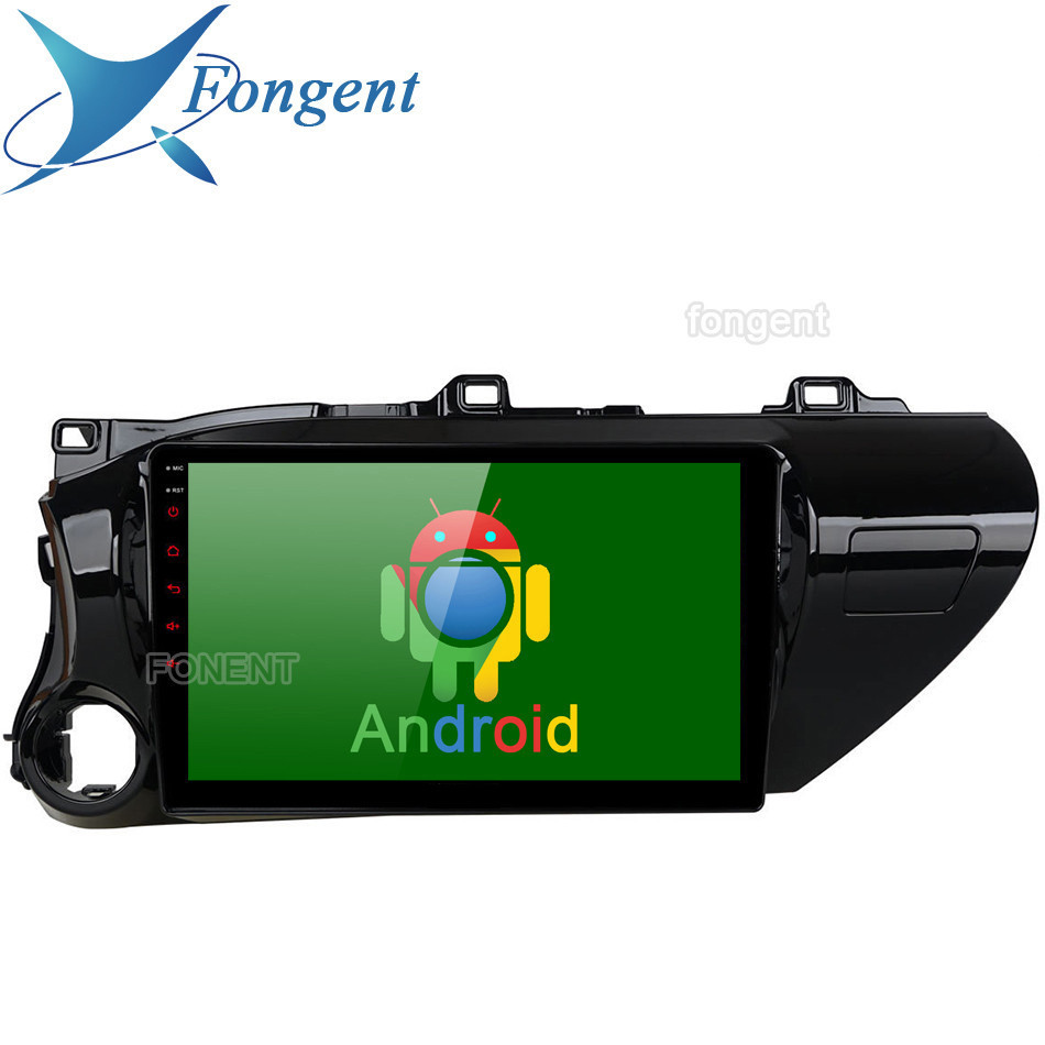 Sale for TOYOTA Hilux 2016 2017 2018 Car Android Unit Radio Multimedia Player Left Righ Hand Drive LHD RHD GPS Navigator Stereo Smart 0