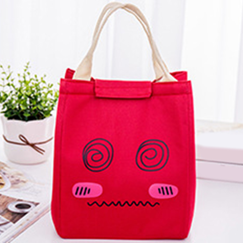 Portable Tote Work Thermal Insulated Lunch Box Bag Cartoon Waterproof Bento Bag tote bags for work