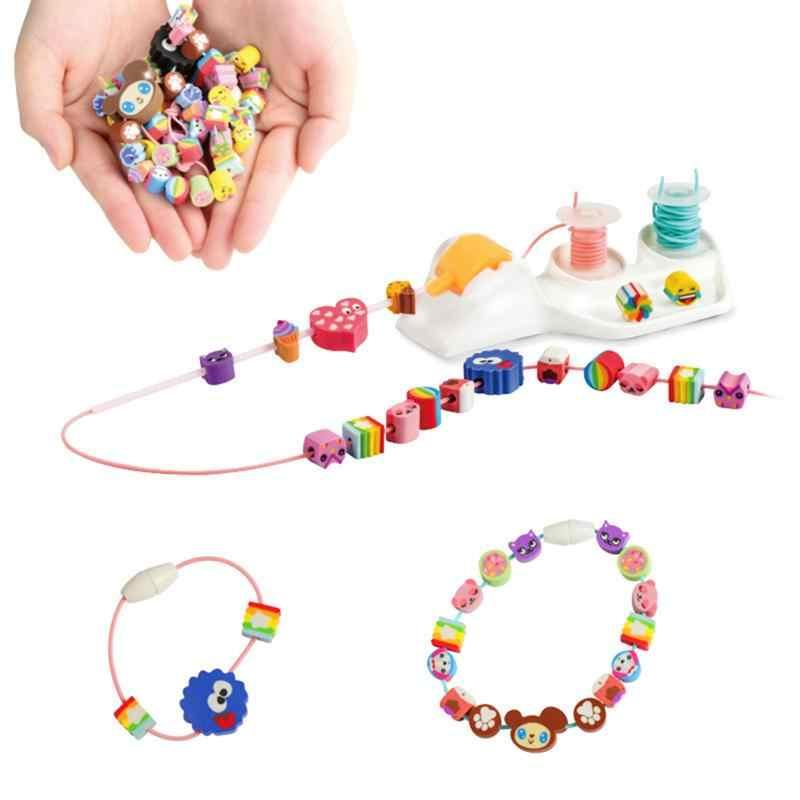 Een Set Diy Multi-Kleur Diverse Pvc Kralen Vullingen Voor Decoratie Craft Sieraden Armband Kettingen Kids Meisjes