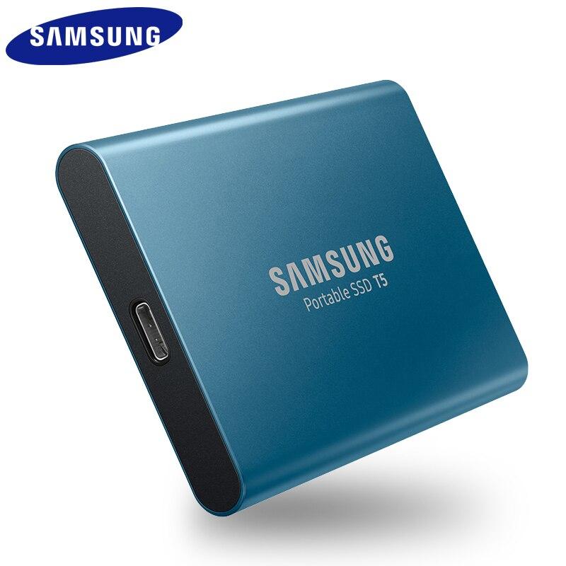 Samsung SSD Externe T5 250 go 500g 1T 2T Externe Semi Hd Disque dur Usb 3.1 Gen2 (10 gbit/s) Et Rétrocompatible Pour PC - 2
