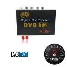 Автомобильный наземный DVB-T2/T приемник двойной тюнер dvd монитор мультимедиа радио плеер 1080P H.264 MPEG-4 CVBS, HDMI Макс 150 км/ч EPG