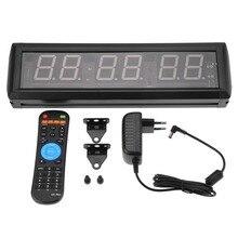 220 В Алюминий 2,3 ''программируемый светодиодный таймер с интервалом большой секундомер настенный Домашний Тренажерный Зал Фитнес часы стол Декор инструмент ЕС Plug