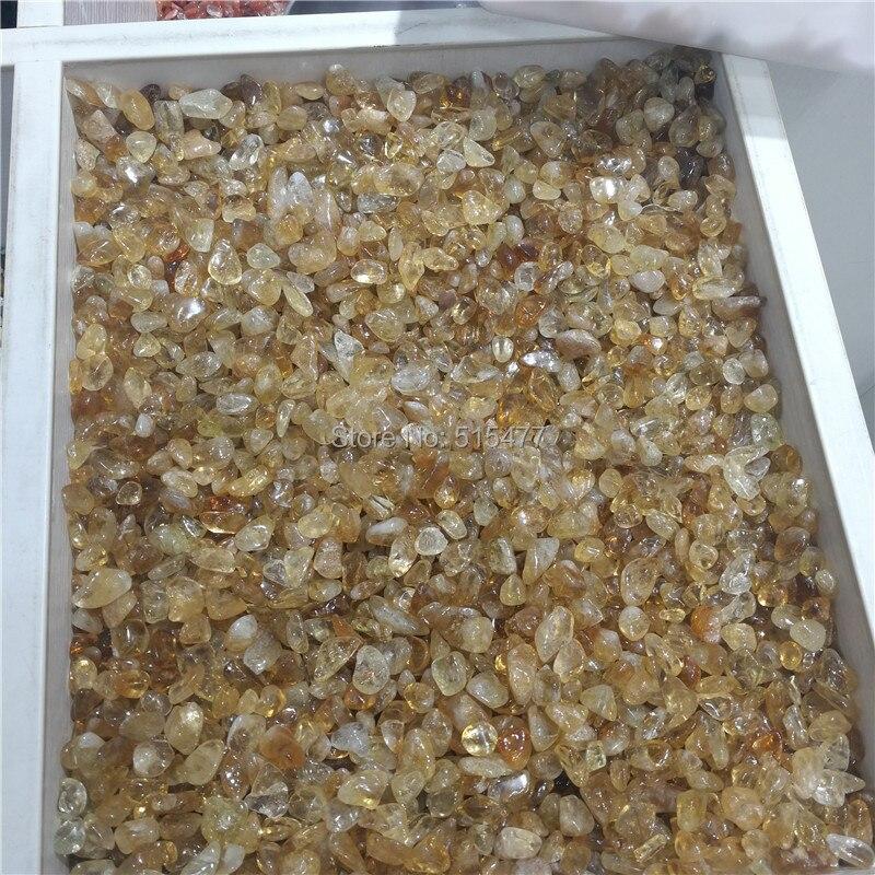 1 kg Naturel Citrine Jaune Quartz Crystal Stone Rock Poli Gravier Spécimen naturel pierres et minéraux